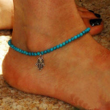 Load image into Gallery viewer, Hamsa Fatima Anklets - TAIGS000