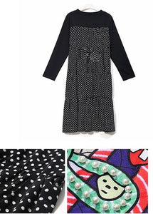 Dotted Black  Dress - TAIGS000