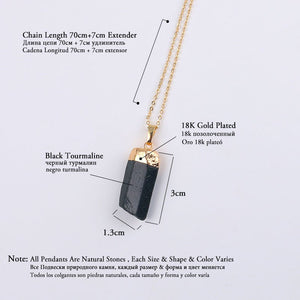 Black Tourmaline Pendant Necklace - TAIGS000