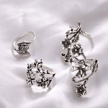 Load image into Gallery viewer, Vintage flower rings - 4 piece set - TAIGS000