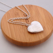 Load image into Gallery viewer, Handmade Heart Locket Pendant Necklace - TAIGS000