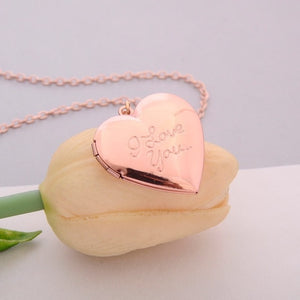 Handmade Heart Locket Pendant Necklace - TAIGS000