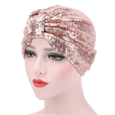 Adjustable Shining Sequins Turban - TAIGS000