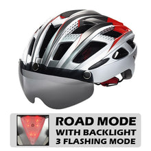 Load image into Gallery viewer, Ultralight MTB Road Bike Lens Visor Helmets - TAIGS000