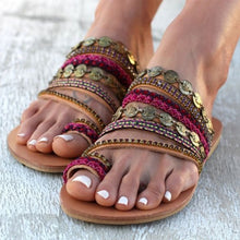 Load image into Gallery viewer, Golden Ethno Sandals - TAIGS000
