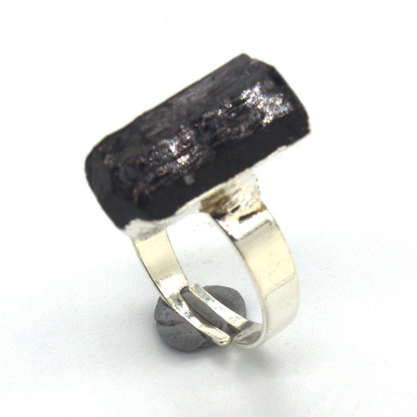 Natural Black Tourmaline Ring - TAIGS000