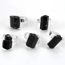 Load image into Gallery viewer, Natural Black Tourmaline Ring - TAIGS000