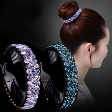 Load image into Gallery viewer, Rhinestone Flower Hair Claw - TAIGS000