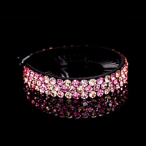 Rhinestone Flower Hair Claw - TAIGS000