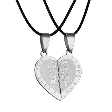 I Love You Heart Couple Necklace - TAIGS000