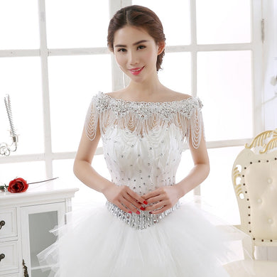 Luxury Lace Bridal Shoulder Chains - TAIGS000