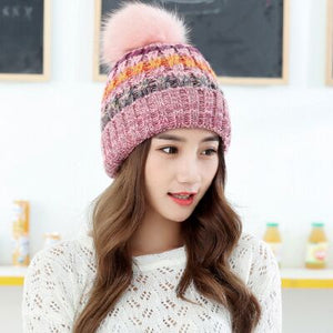 Knit Beanie Hat and Scarf Set - TAIGS000