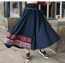 Load image into Gallery viewer, High Waist Patchwork Skirt - TAIGS000