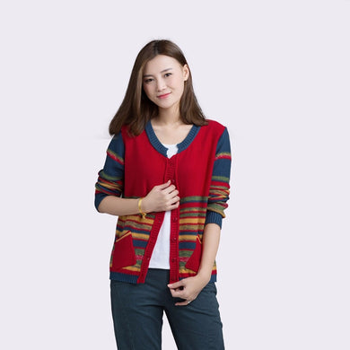 Colorful Casual Cardigan - TAIGS000