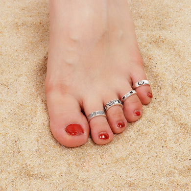 8Pcs/Set Carved Open Toe Ring Set - TAIGS000