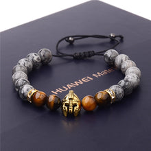 Load image into Gallery viewer, Spartan Helmet Bracelet for Men - TAIGS000