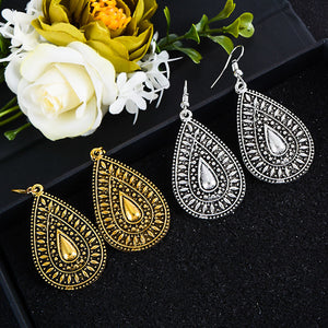 Metal Oversize Earrings - TAIGS000