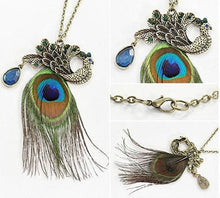 Load image into Gallery viewer, Peacock Sweater Chain - TAIGS000