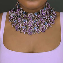 Load image into Gallery viewer, Rhinestone Indian Bridal necklace - TAIGS000