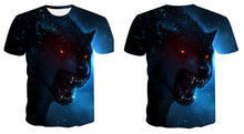 Load image into Gallery viewer, Wolf 3D Print T-Shirt Men - TAIGS000
