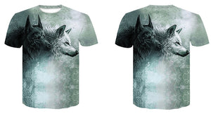 Wolf 3D Print T-Shirt Men - TAIGS000