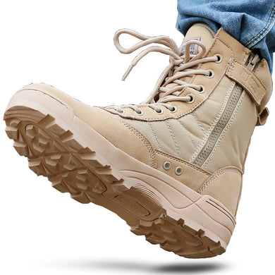 Desert Tactical Military Boots Mens - TAIGS000