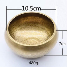 Load image into Gallery viewer, Handmade Brass Singing Bowl for Healing - TAIGS000