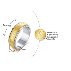 Golden Mantra Ring - TAIGS000