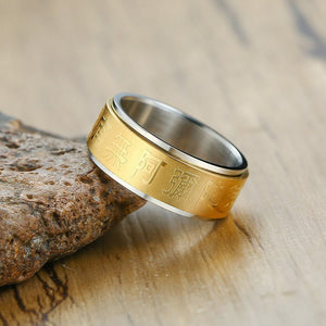 Stainless Steel Buddhist Ring - TAIGS000