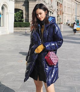 Glossy Long Down Jacket - TAIGS000
