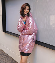 Load image into Gallery viewer, Glossy Long Down Jacket - TAIGS000