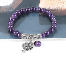 Load image into Gallery viewer, Purple Crystal Tree Of Life Jewelry Set - TAIGS000