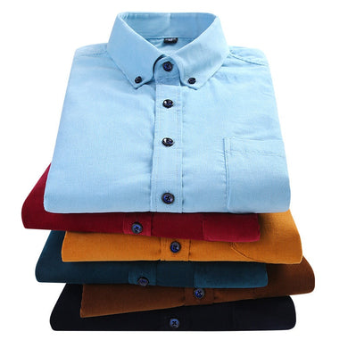 Corduroy long sleeved shirts for men - TAIGS000