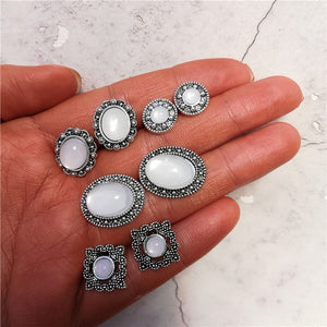 Vintage Geometric Stud Earrings Set - TAIGS000