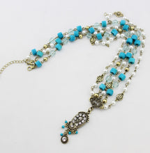 Load image into Gallery viewer, Blue Resin bead Pearl Headpiece - TAIGS000