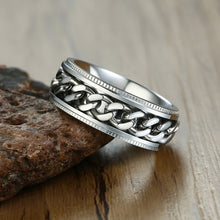 Load image into Gallery viewer, Silver Chains Spinner Ring - TAIGS000