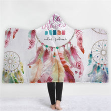 Load image into Gallery viewer, Feather Hooded Blanket - TAIGS000