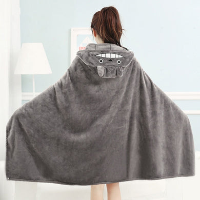 Totoro Minky Hooded Blanket - TAIGS000