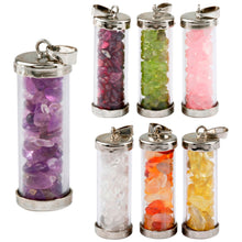 Load image into Gallery viewer, 7 Chakra Wishing Bottle Pendant - TAIGS000