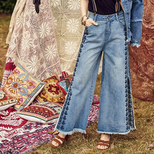Load image into Gallery viewer, Retro Side Split Jeans - TAIGS000