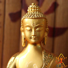 Load image into Gallery viewer, Brass Buddha figure statue -15cm tall - TAIGS000