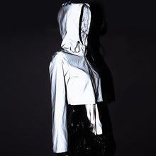Load image into Gallery viewer, flash reflective hooded  short jacket - TAIGS000