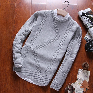 O Neck Cotton Knit Sweater - TAIGS000