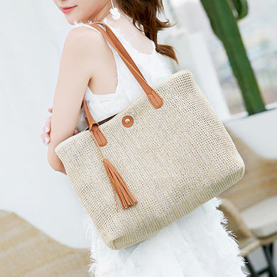 Simple Woven Handbag - TAIGS000