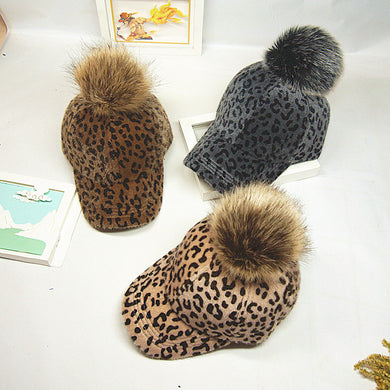 leopard hairball Winter Hat - TAIGS000