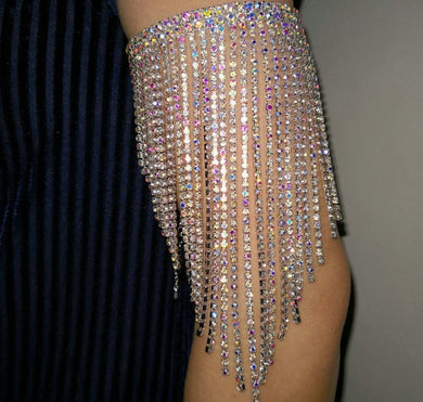Rhinestone Crystal Arm bracelet - TAIGS000