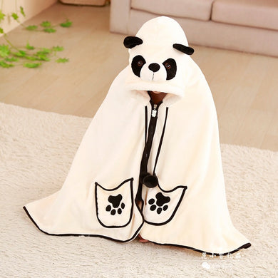 Big eyes panda Hoodie Blanket - TAIGS000