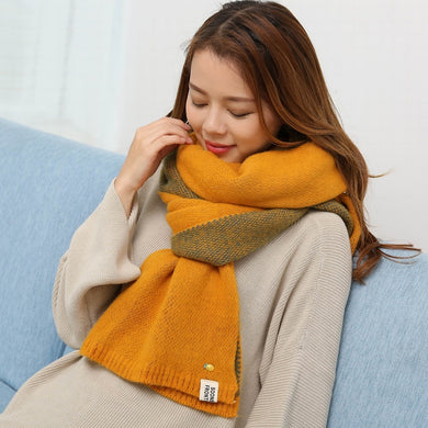 Warm Knitted Two Sides Wool Scarf - TAIGS000