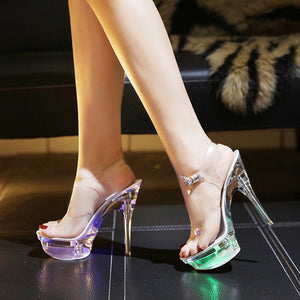 Crystal LED Sandals - TAIGS000