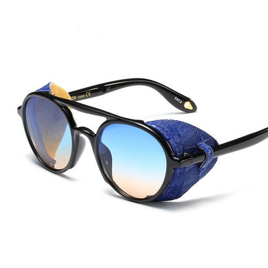 Leather Side Shield Sun Glasses - TAIGS000